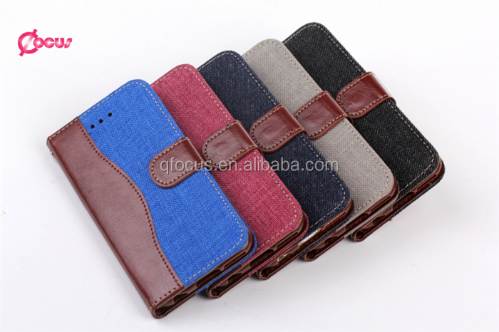 2016 hot sell Manufacture Luxury Jeans for iphone 6 leather wallet case