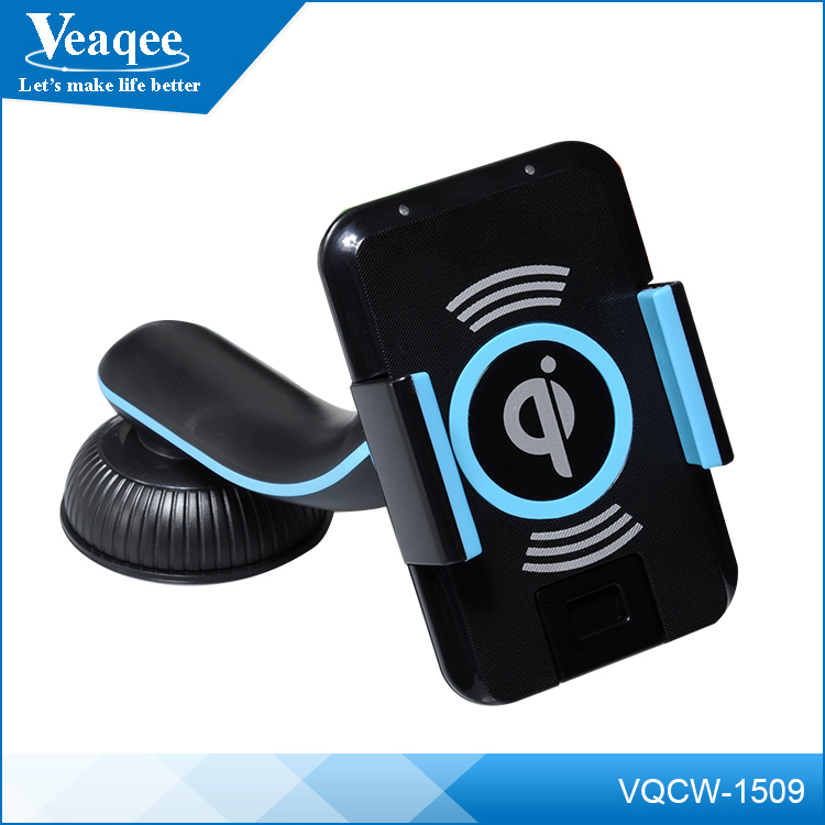 Veaqee wholesale mobile phone car holder qi wireless charger for smartphone