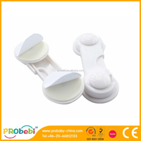 GC001 white plastic cabinet latch / baby safety lock
