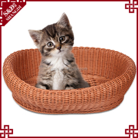 Cat pet supply wholesale arbitrarily curved soft wicker cat bed