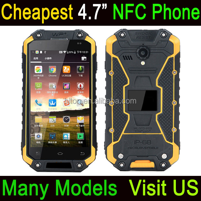 Cheapest Factory Waterproof NFC Phone 4.7 inch 2GB Ram 16GB Rom 4G LTE Android Rugged Phone With NFC