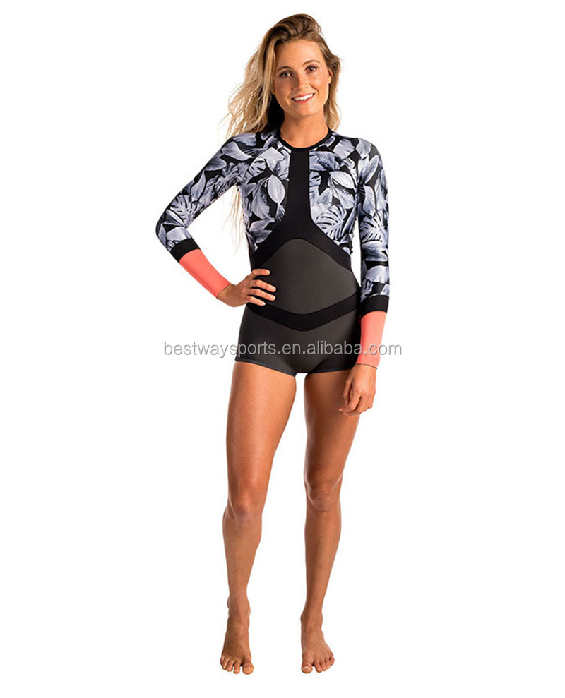 Factory direct first choice printed shorty woman's sexy wetsuit
