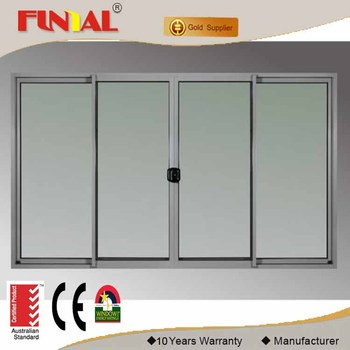 Double tempered glass/low-e glass Australia standard commercial aluminum door