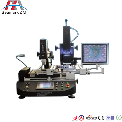 Precise work bga reballing kit ZM-R6808 bga rework station with alignment camera and LCD