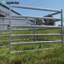 Practical steel fence 6 bars pipe corral panels for sale