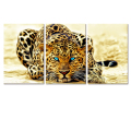 Wholesale Abstract Wild Life Photo Printing Canvas Leopard Picture Canvas Printing Decorative Animal Printed Artwork