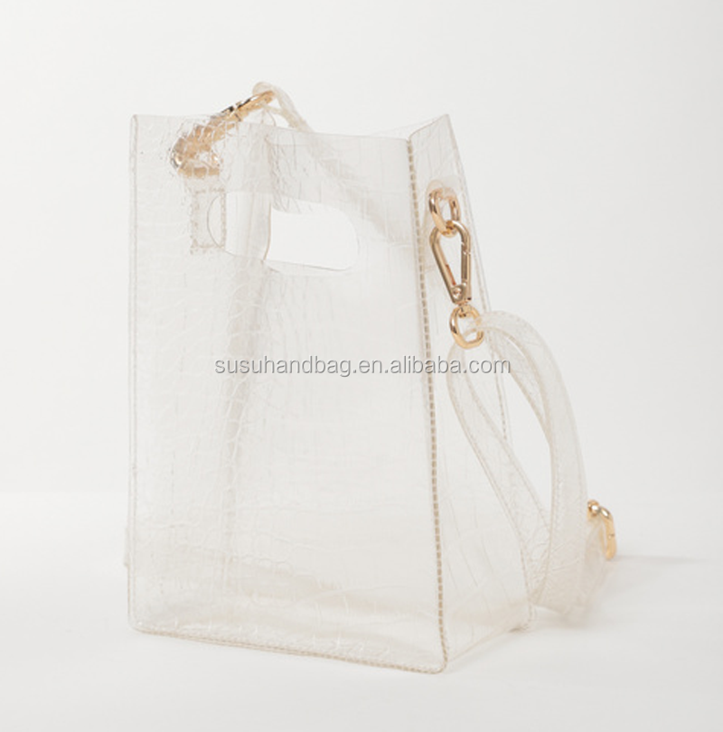 Fashion Summer Transparent Women's Handbag PVC Totes