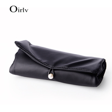 Factory Wholesale Roll Design jewellery accessories Packing Bags For Travel Ring Gift Pouch PU Leather Jewelry Bag With Logo