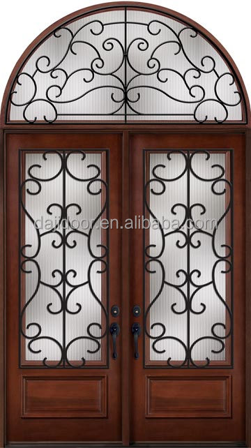 Gothic Style Double Entry <strong>Doors</strong> With Transom DJ-S9155MWHR
