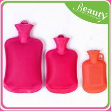 Short plush hot water bottle cover ,h0t7j rubber water bottle for sale