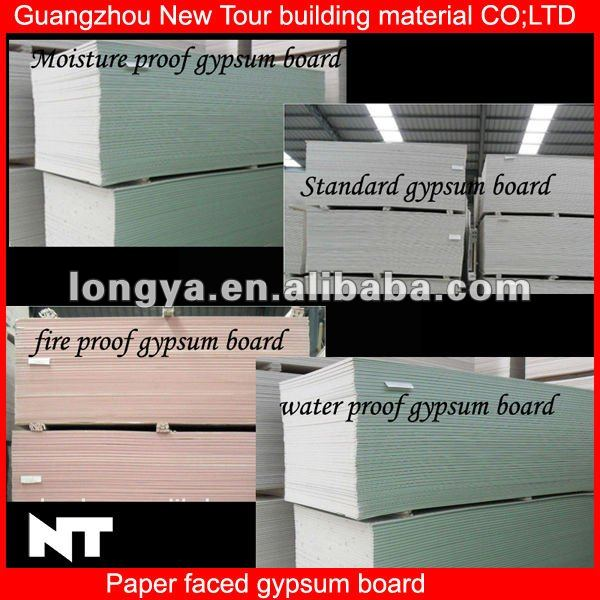 Moistureproof fireproof ceiling gypsum board price