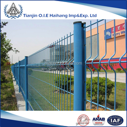 Hot sale pvc coated welded galvanized iron wire mesh fence for boundary wall