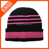 fast production cheap fashional high quality striped knit hat