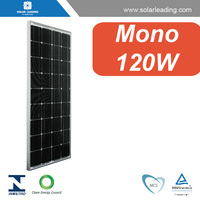 Best price 120w solar panel monocrystalline silicon with pv junction box for ground mounted solar rack system