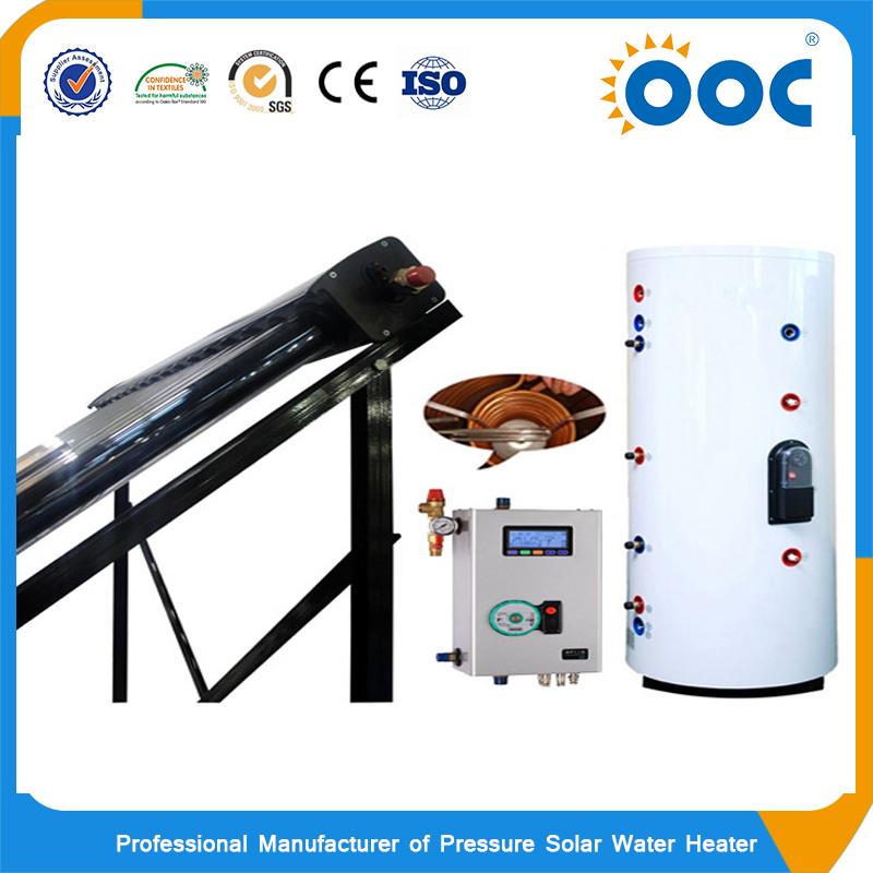 split pressure swimming pool solar hot wter heater with heat pipe solar collector