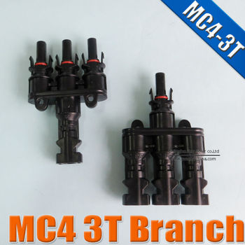 MC4 3T Branch TUV Waterproof IP67 for solar panel cable MC4 multi branch connector