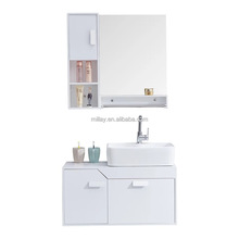 Classic White Factory Modern Small Pvc Bathroom Cabinet/Vanity Pvc Bathroom Wash Basin Cabinet