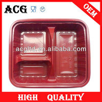 disposable tray/biodegradable compartment lunch tray