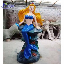 The life-size park decorated the mermaid fiberglass sculpture NTFC-031Y