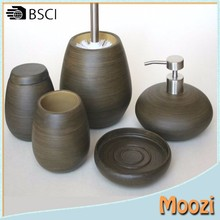 wood like Resin Bathroom Accessories Home Decoration Hardware Accessories set