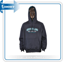 plain 100% polyester black hoodies