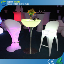 Illuminated Bar Furniture / Led Lighting Cocktail Table for Wedding Party Use