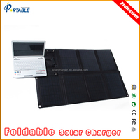 80W transparent solar panel foldable & portable solar panel with DC&USB volt output for 12V battery/lapto/mobiles