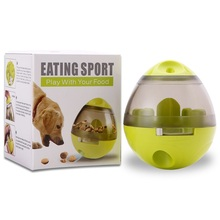 Funny Pet Foraging Toy Interactive Dispensing Tumbler Slow Eating Cat Dog Food Feeder