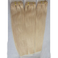 Straight Europe Human 613 Blonde Hair Weave Weft Silk Straight Fashion Blond Hair Weaving