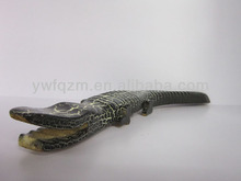 wood carving home decor crocodile