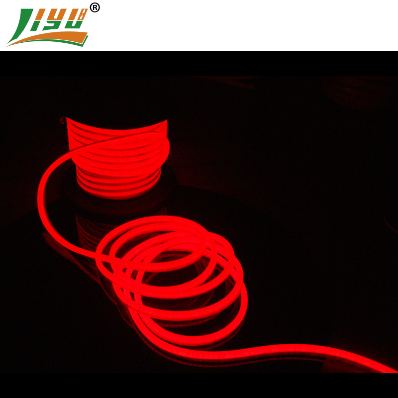 24V red white jacket LED flexible neon tube for indoor and outdoor decoration,can bend any shape for led designsigns