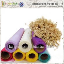 China manufacture cheap colorful design flower/gift wrap roll