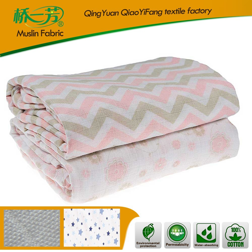 BSCI & SEDEX Certificated Factory infant products baby cotton muslin swaddle new born blanket