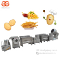 2017 Hot Sale Semi Automatic Finger Chips Plant Potato Chips Production Line French Fries Surgeler Chips Making Machine