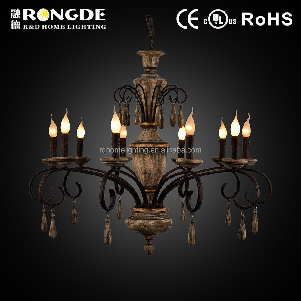 Modern candle chandelier light for hotel