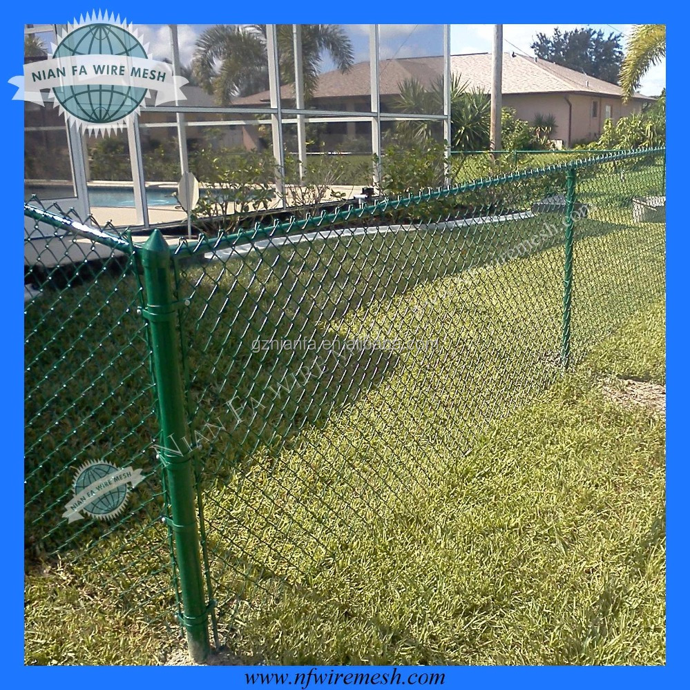 Chain link fence wire neeting/plastic chain link wire fence netting /diamond mesh fence wire fencing