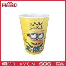 Melamine KING printed resuable pearl tea cup, cup plastik, funny kids 14oz tumbler