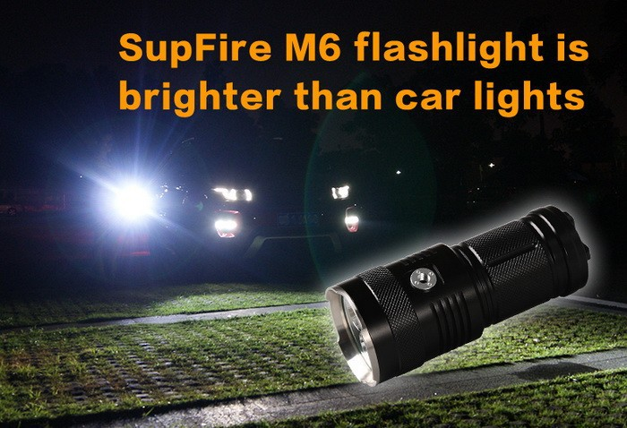 Portable 30W high quality rechargeable LED army torch light