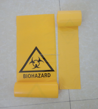 Manufacture wholesale disposal plastic large medical waste bags on roll
