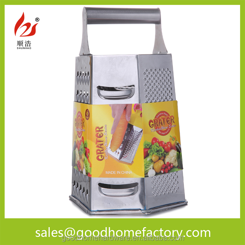 8inch 6 sides stainless steel Vegetable and fruit Grater