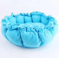 Wholesale Solid Color Soft Round Pumpkin Bed Small Animal Drawstring House Pet Supplies --S sizes