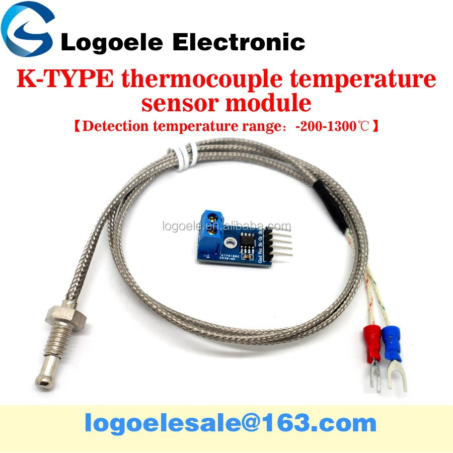MAX6675 thermocouple sensor type <strong>K</strong> thermocouple module , thermoelectric coupling electrode