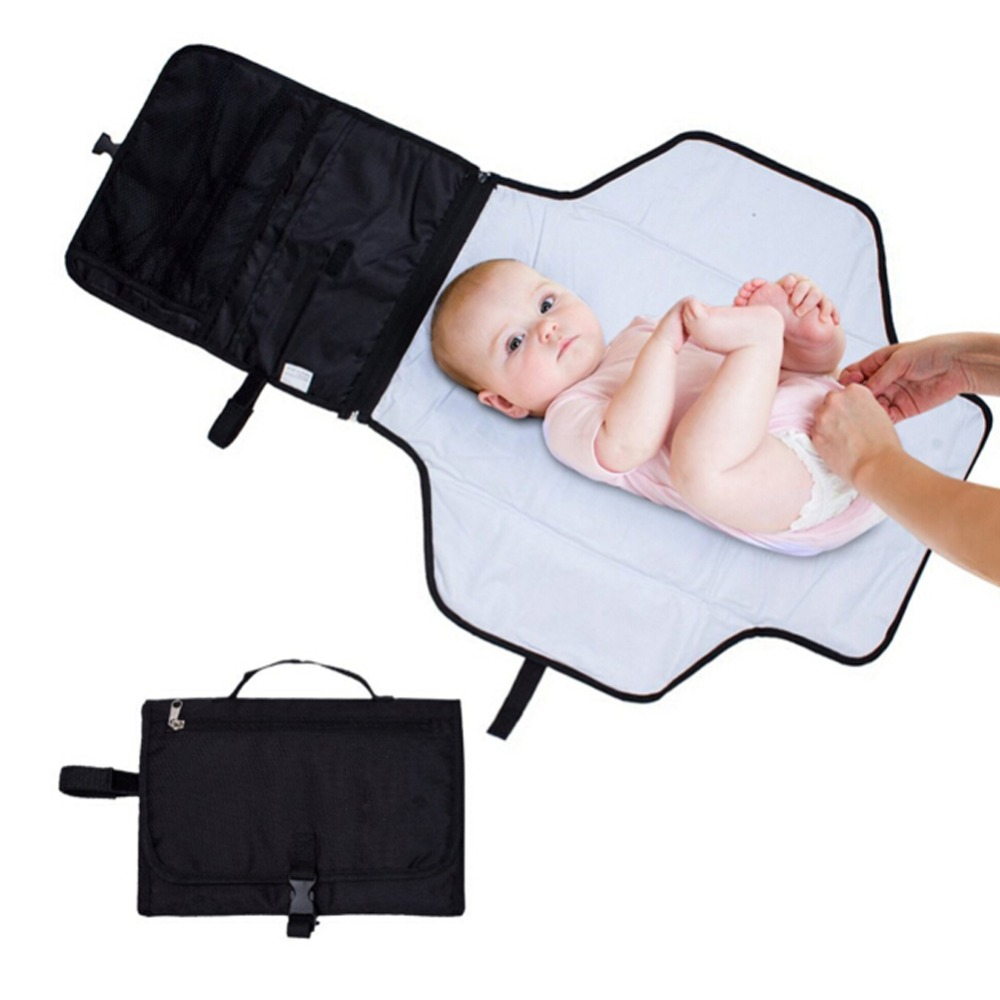Portable Baby Diaper Changing Kit Polyester Travel Change Pad