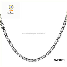 Factory Wholesale For Men's Tungsten Two-Tone Byzantine Chain Necklace