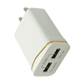 12W 2.4A US Plug Wall Charger 2-Port USB Portable Travel Charger Adapter for Mobile Phones