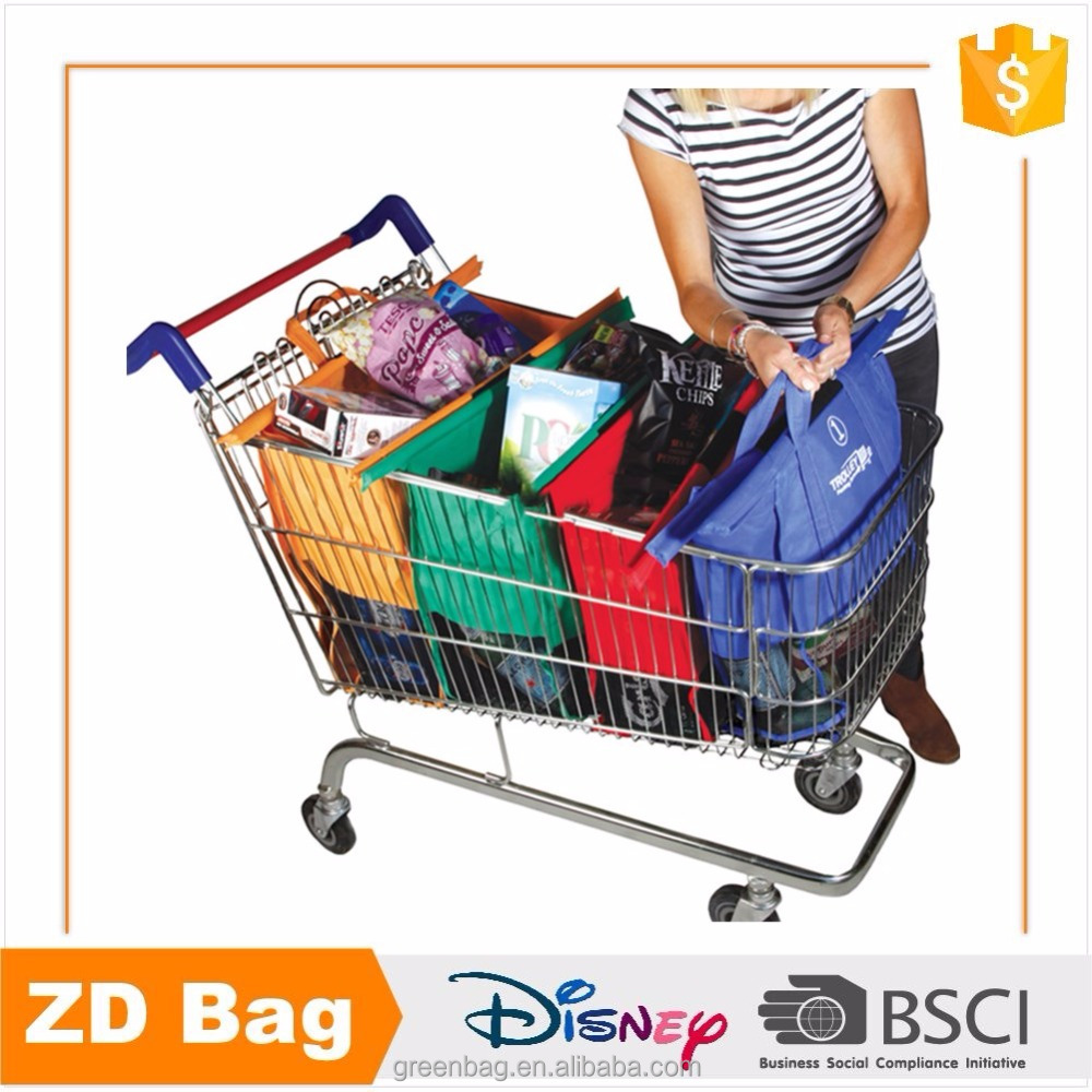 Sedex Audit Reusable Non Woven Shopping Cart Grab Bag