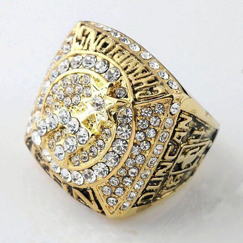 Zinc Alloy Jewelry 1999 2007 American Basketball Game Championship Men's Ring