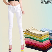 candy color pencil pants new Korean skinny jeans