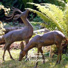 Directly Factory outdoor brass ornament deer statue