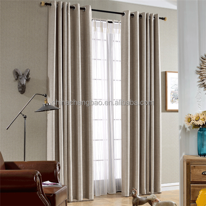 2017 new metal eyelets curtain accessory day and night curtain